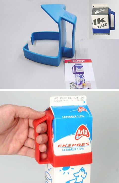 BRIX Carton Grip【ミルクホルダー/ライトブルー】