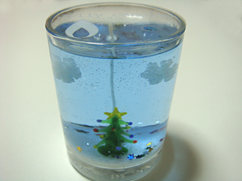 ゼリーキャンドル【クリスマスツリー】